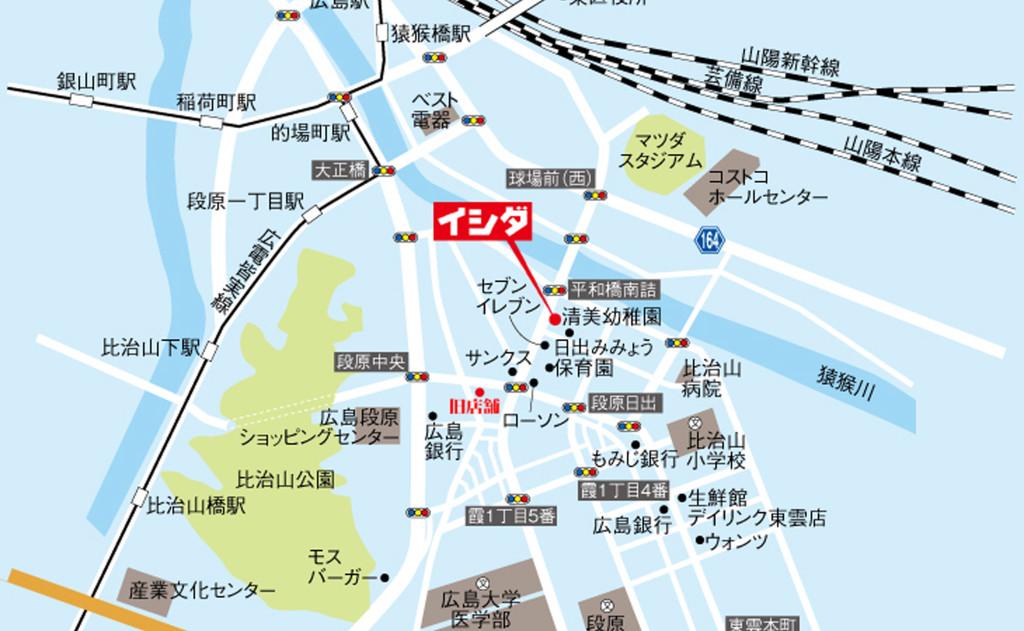 広島市南区段原日出1丁目7-12にあります。