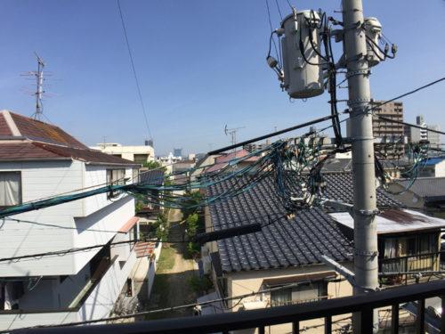 東雲の中古住宅の3階からの眺めです