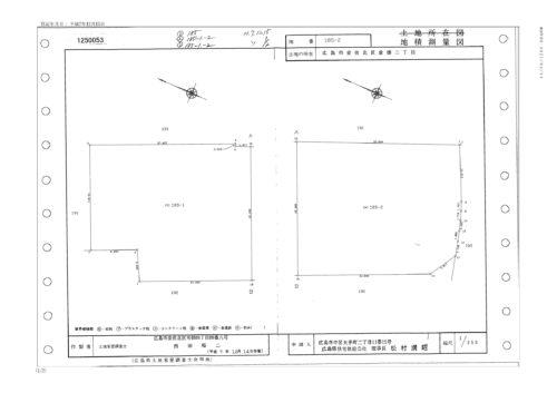 岡本産婦人科の地積測量図