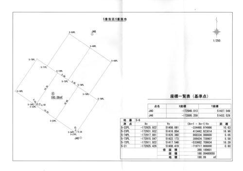 西条 寺家 測量図面