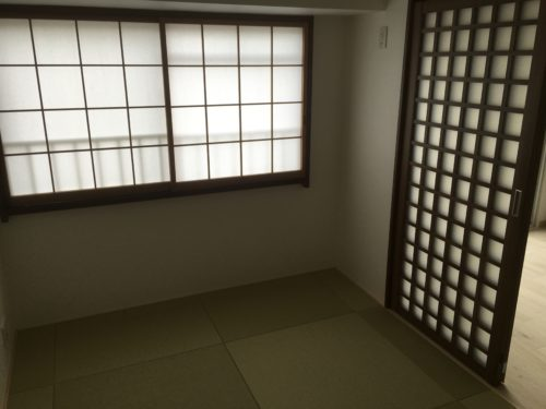 チサンマンション広島のリフォーム工事後の和室の写真です