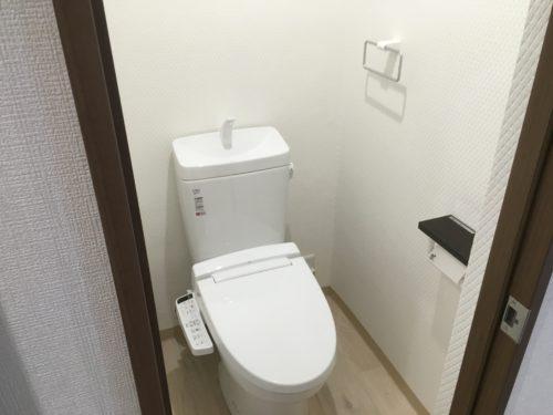 チサンマンション広島のリフォーム工事後のトイレの写真です