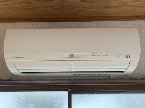 広島市南区翠5丁目の戸建賃貸のエアコンの写真