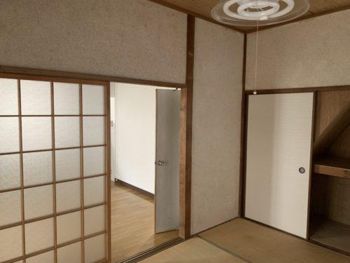 広島市南区翠5丁目の戸建賃貸の1階和室6畳の写真