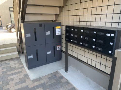 府中町大須1丁目 インフィニティ大須の宅配ボックス、郵便受けの写真