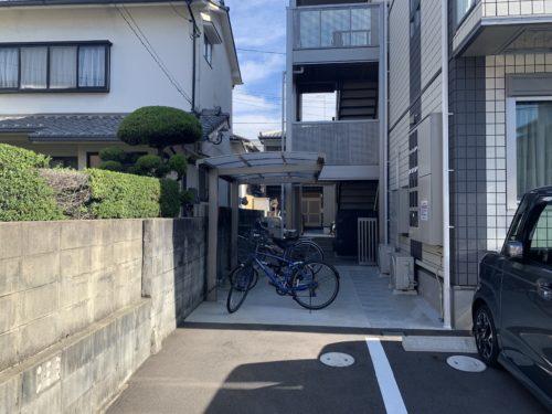 府中町大須1丁目 インフィニティ大須の自転車置き場の写真