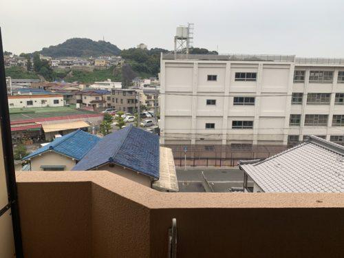 ライオンズマンション西霞町第2のバルコニーからの眺めです