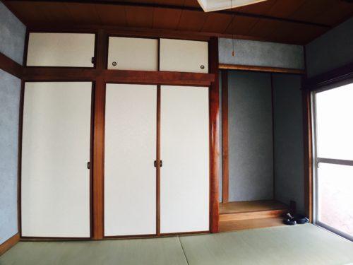 宇品の戸建賃貸の原状回復工事の和室の写真です